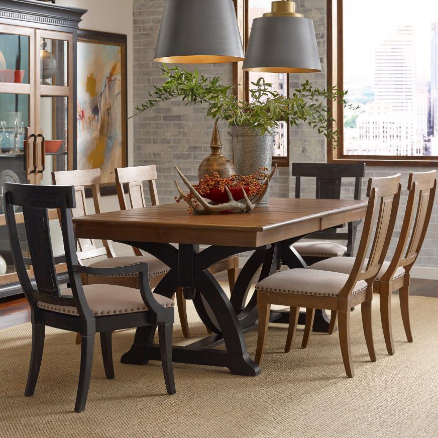 Kincaid Furniture Stone Ridge 7 Pc Dining Set - Item Number: 72-056P+4X72-061+2X72-062B