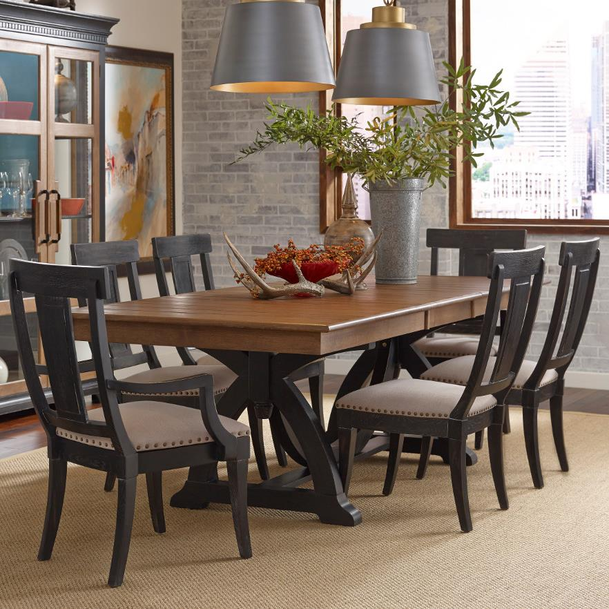 Kincaid Dining Room Set: Kincaid Furniture Stone Ridge Seven Piece Dining Set With Rectangular Table And Black Painted