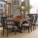 Kincaid Furniture Stone Ridge 7 Pc Dining Set - Item Number: 72-056P+4X72-061B+2X72-062B