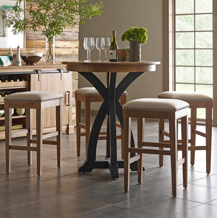 Kincaid Furniture Stone Ridge 5 Pc Bistro Table and Bar Stool Set - Item Number: 72-059P+4X72-069