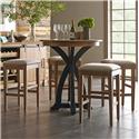 Kincaid Furniture Stone Ridge 5 Pc Bistro Table and Bar Stool Set - Item Number: 72-059P+4X72-069