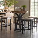 Kincaid Furniture Stone Ridge 5 Pc Bistro Table and Bar Stool Set - Item Number: 72-059P+4X72-069B