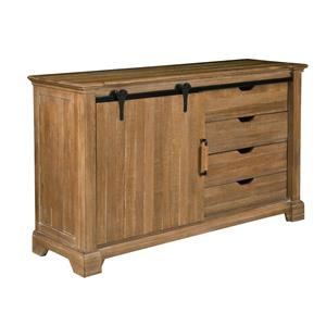 Kincaid Furniture Stone Ridge Sliding Door Wine Buffet