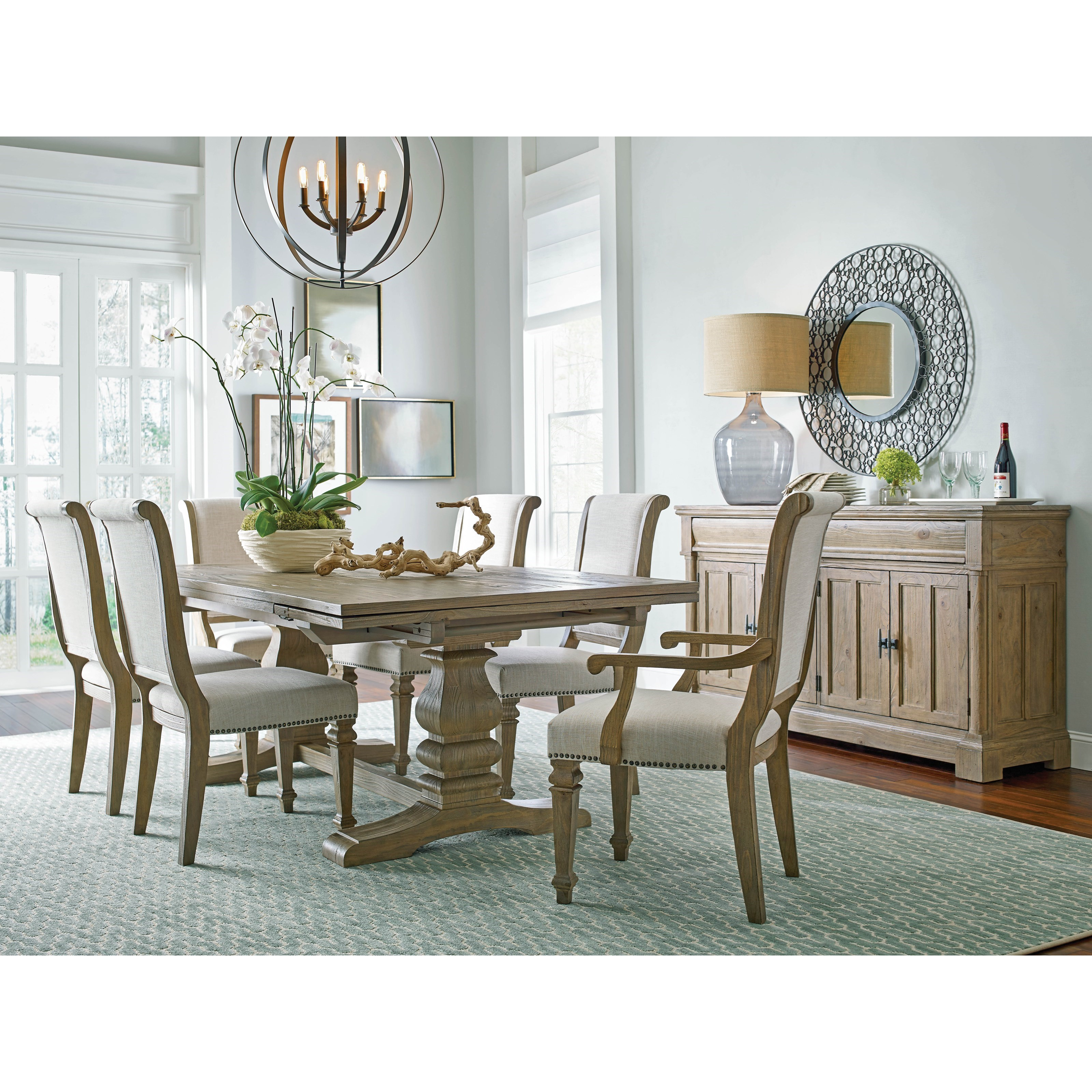 Kincaid Dining Room Set: Kincaid Furniture Stone Street Seven Piece Dining Set With Self-Storing Leaves