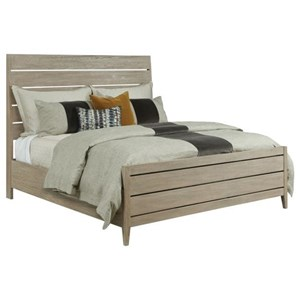 Incline Oak King Platform Bed