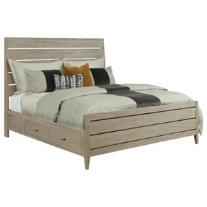 Incline Oak Queen High Bed