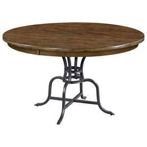 "54"" Round Dining Table  w/ Metal Base"