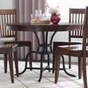 """Kincaid Furniture The Nook 44"""" Round Dining Table w/ Metal Base - Item Number: 664-703P"""