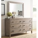Kincaid Furniture Trails Braswell Dresser and Mirror Set - Item Number: 813-220S+030S