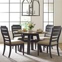 Kincaid Furniture Trails Five Piece Dining Set - Item Number: 813-702HP+4x620C