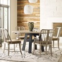 Kincaid Furniture Trails 5 Piece Chair & Table Set - Item Number: 813-703SP+4x639S