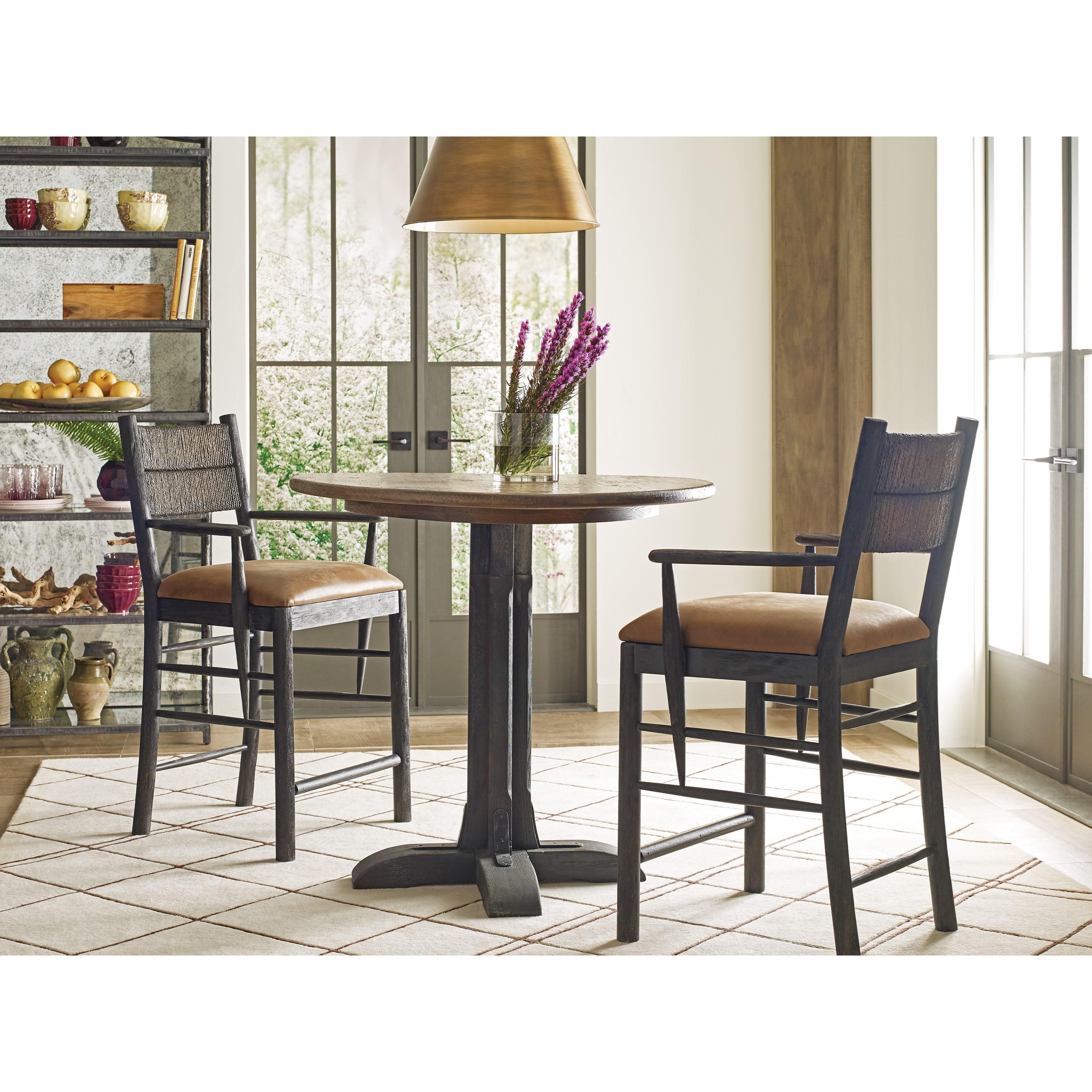 Kincaid Furniture Trails Three Piece Dining Set   Item Number:  813 706H+2x691C