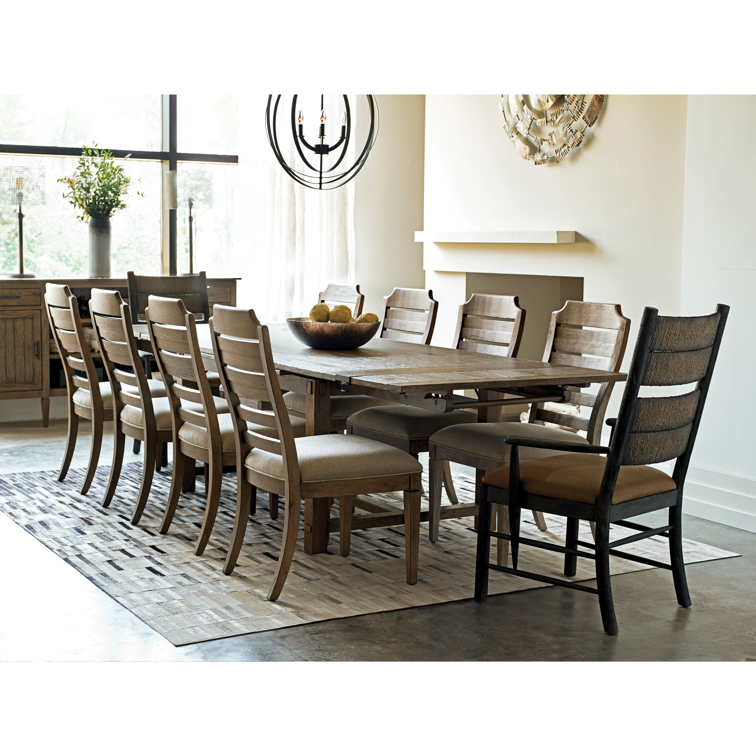 Kincaid Dining Room Set: Kincaid Furniture Trails Relaxed Vintage Eleven Piece Dining Set