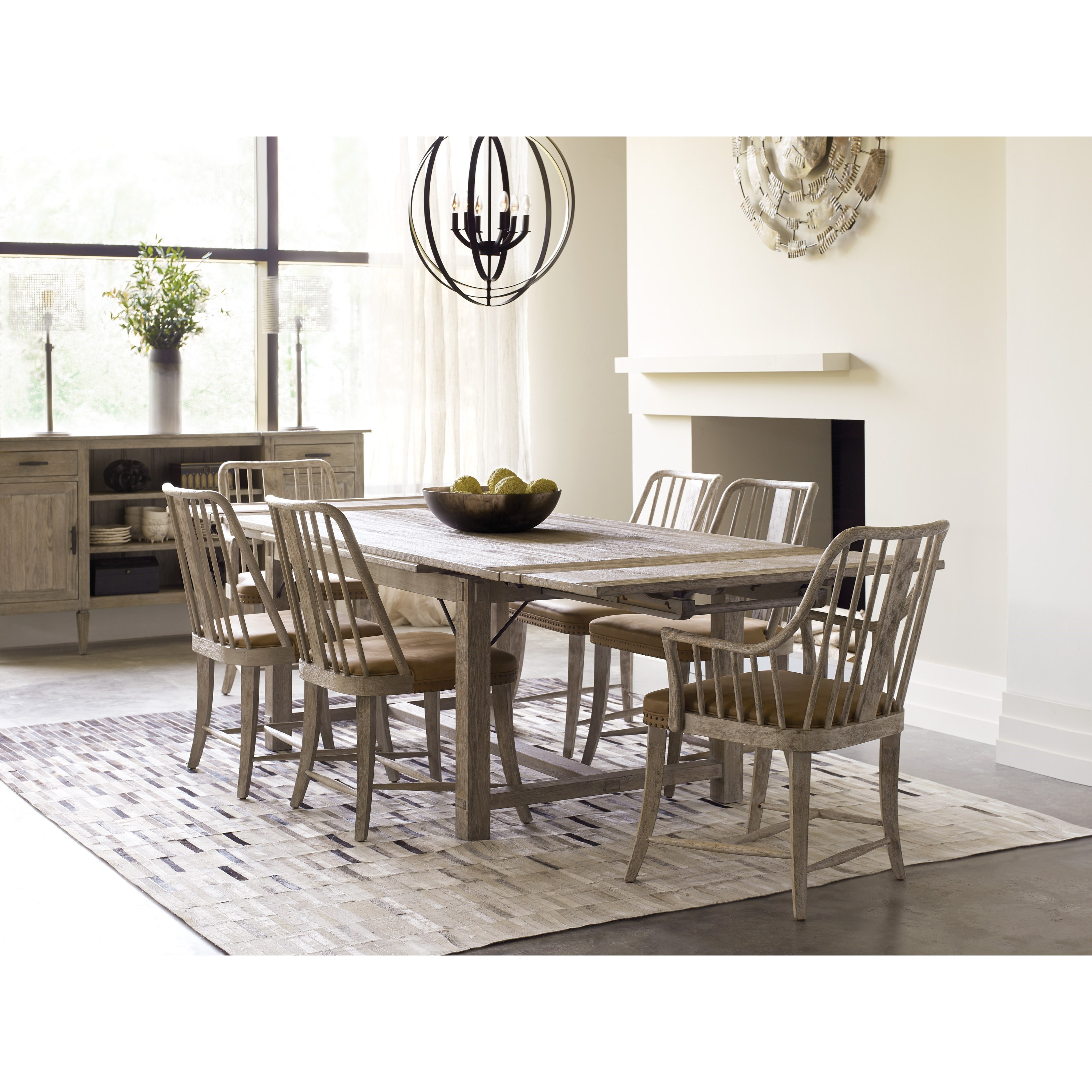 Kincaid Dining Room Set: Kincaid Furniture Trails Relaxed Vintage Seven Piece Dining Set