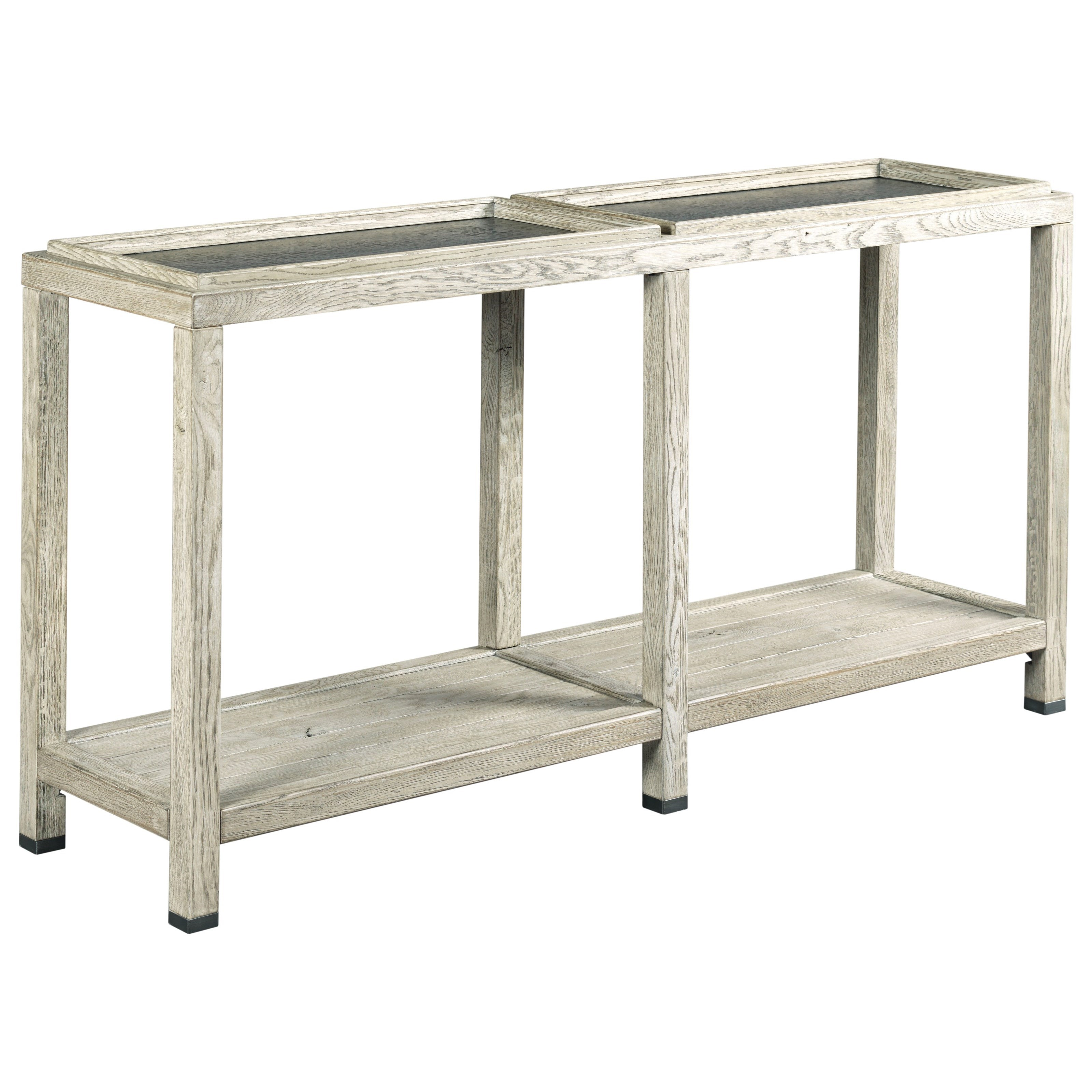 Kincaid Furniture Trails Elements Console Table With Two Removable Trays Godby Home Furnishings Sofa Tables Consoles