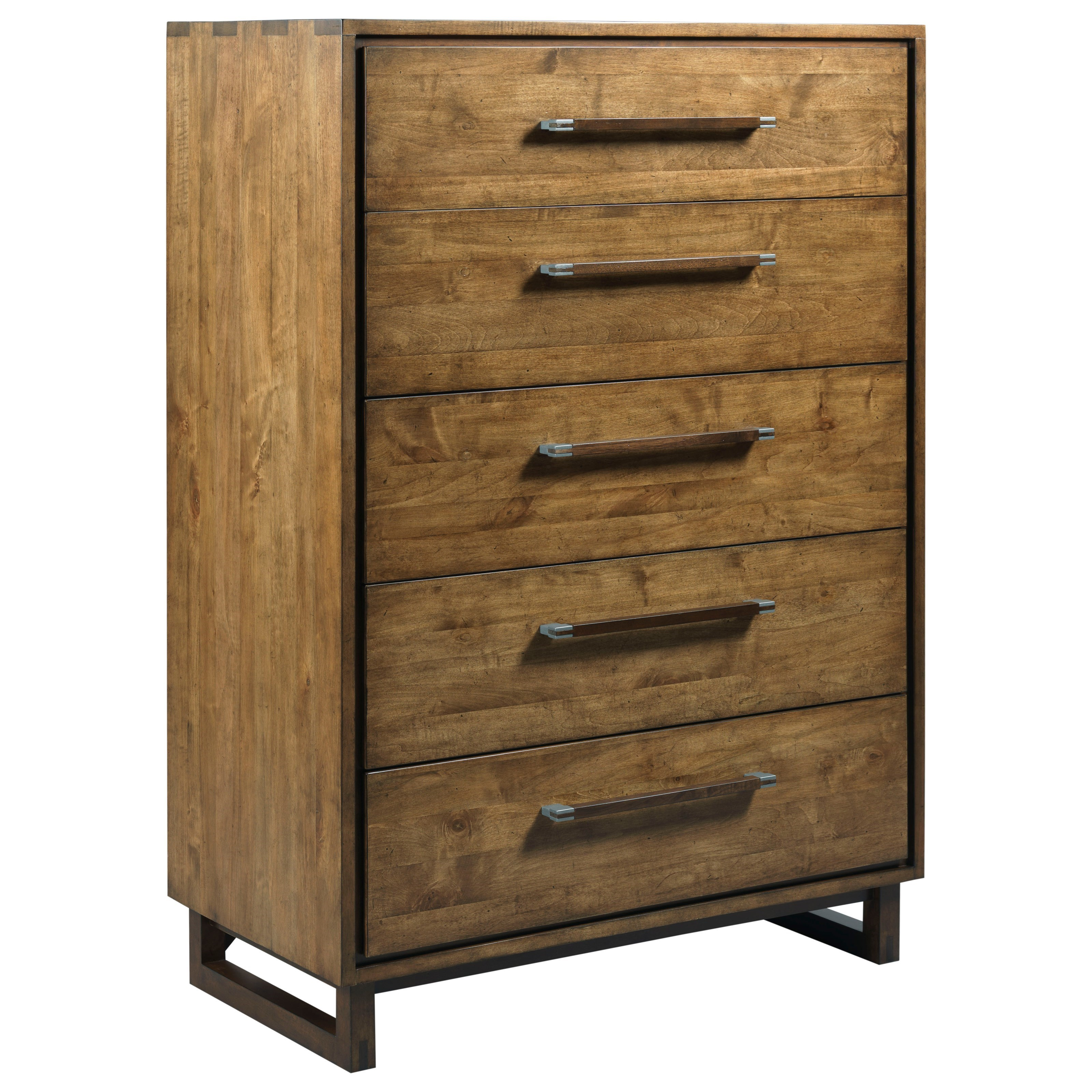 bed8408a08 Kincaid Furniture Traverse Tradesman Modern Craftsman Five Drawer Chest  with Drawer Dividers