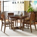 Kincaid Furniture Traverse Five Piece Dining Set with Blacksmith Table and Woodcrafter's Chairs