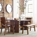 Kincaid Furniture Traverse 6 Pc Dining Set - Item Number: 660-744+2X639+2X638+650