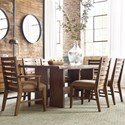 Kincaid Furniture Traverse 7 Pc Dining Set - Item Number: 660-744+2X660-637+4X660-636
