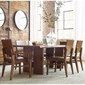 Kincaid Furniture Traverse 7 Pc Dining Set - Item Number: 660-744+4X660-638+2X660-639