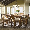 Morris Home Furnishings Tuscano 9-Piece Pub Dining Set - Item Number: 96-058+8x067