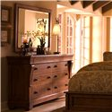 Kincaid Furniture Tuscano 8-Drawer Dresser with Landscape Mirror