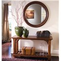 Kincaid Furniture Tuscano Rectangular Sofa Table with Shelf - Shown with Round Mirror