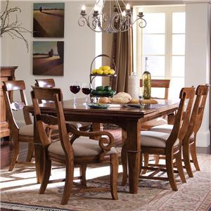 7 Pc. Refectory Leg Table & Chair Set