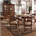 Kincaid Furniture Tuscano 9 Pc. Refectory Leg Table with 2 Upholstered Arm Chair & 6 Upholstered Side Chair Set