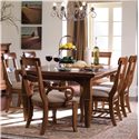 Kincaid Furniture Tuscano Refectory Leg Table - 96054 - Shown with Arm Chairs and Side Chairs