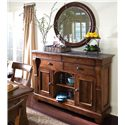 Kincaid Furniture Tuscano Sideboard with Marble Top - Shown with Round Mirror