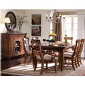Kincaid Furniture Tuscano Sideboard with Marble Top - Shown with Round Mirror, Side Chairs, Arm Chairs, and Table