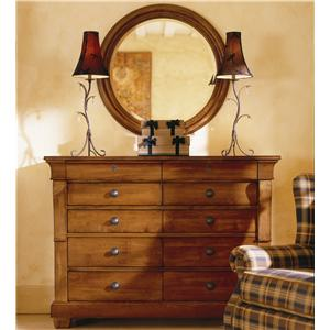 Kincaid Furniture Tuscano Drawer Dresser & Mirror