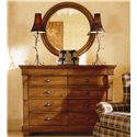 Kincaid Furniture Tuscano Drawer Dresser Solid Wood Top - 96163 - Shown with Round Mirror