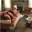 Kincaid Furniture Tuscany Traditional Stationary Sofa - Shown in Room Setting with Chair