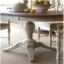 Kincaid Furniture Weatherford Milford Round Dining Table Package with Pedestal Base and Splayed Legs - 75-052B+75-052T