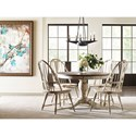 Kincaid Furniture Weatherford 5-Piece Table & Chair Set - Item Number: 75-052P+4x063