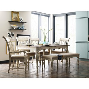 Kincaid Furniture Weatherford Table & Chair Set with Bench