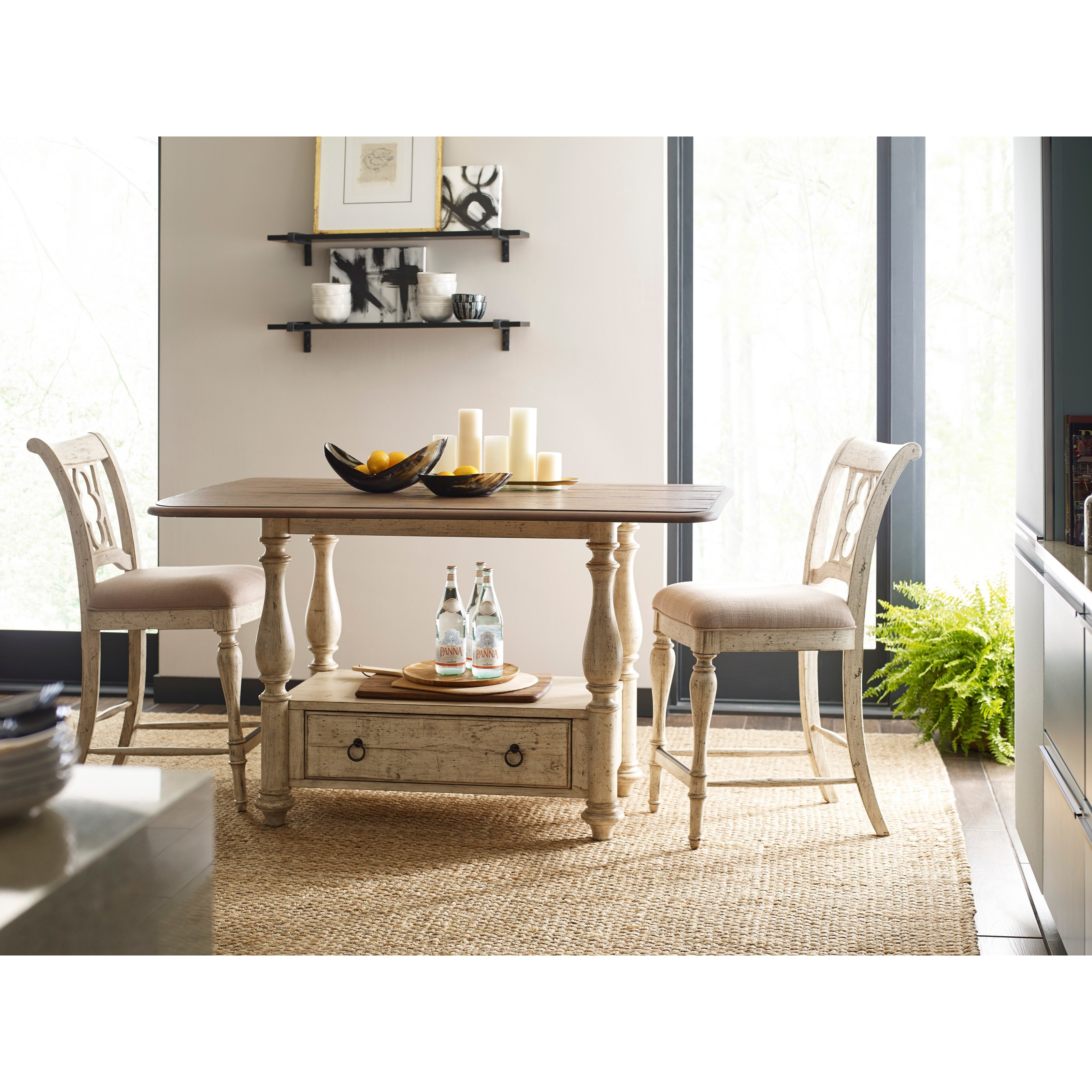 3-Piece Kitchen Island and Chair Set
