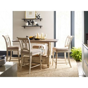Kincaid Furniture Weatherford 5-Piece Kitchen Island and Chair Set