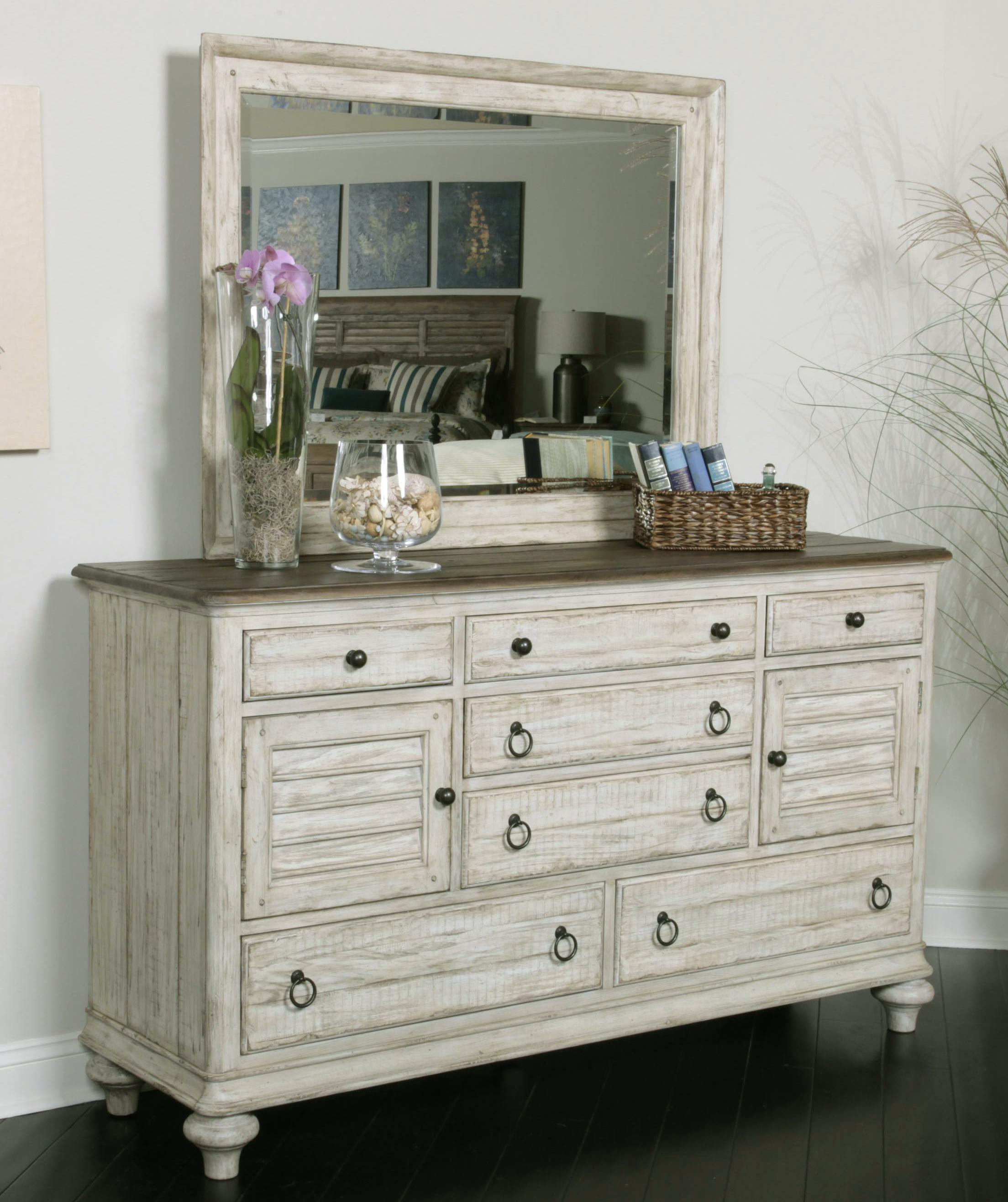 Kincaid Furniture Weatherford Dresser and Mirror Combo - Item Number: 75-114+160
