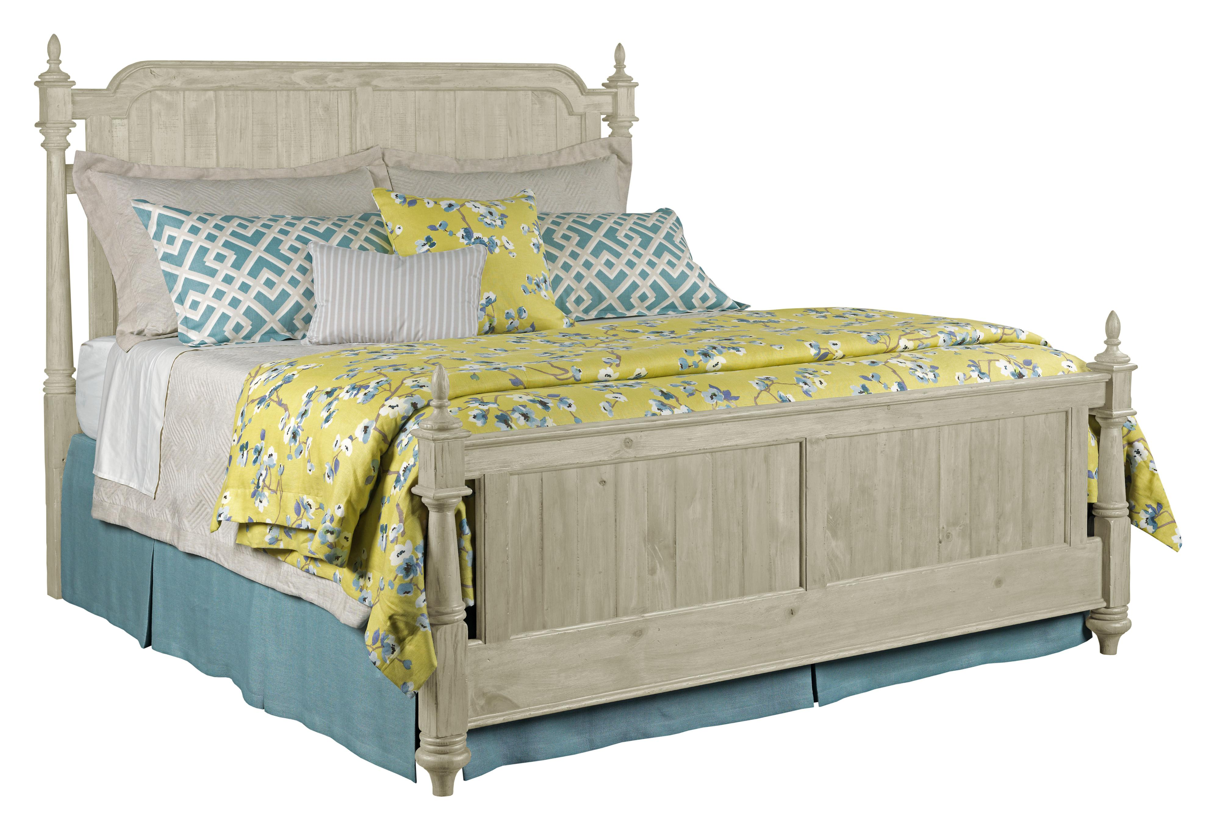 Kincaid Furniture Weatherford Westland Queen Bed Package With Bed Posts And Panel Footboard