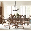 Kincaid Furniture Weatherford 7-Piece Dining Set - Item Number: 76-054+2X64+4X63