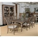 Kincaid Furniture Weatherford Canterbury Table with 4 Turned Legs and Rectangular Curved Table Top