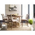 Kincaid Furniture Weatherford 5-Piece Kitchen Island/Cottage Tall Gathering Table and Chair Set