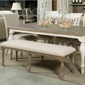 Kincaid Furniture Weatherford Upholstered Belmont Dining Bench