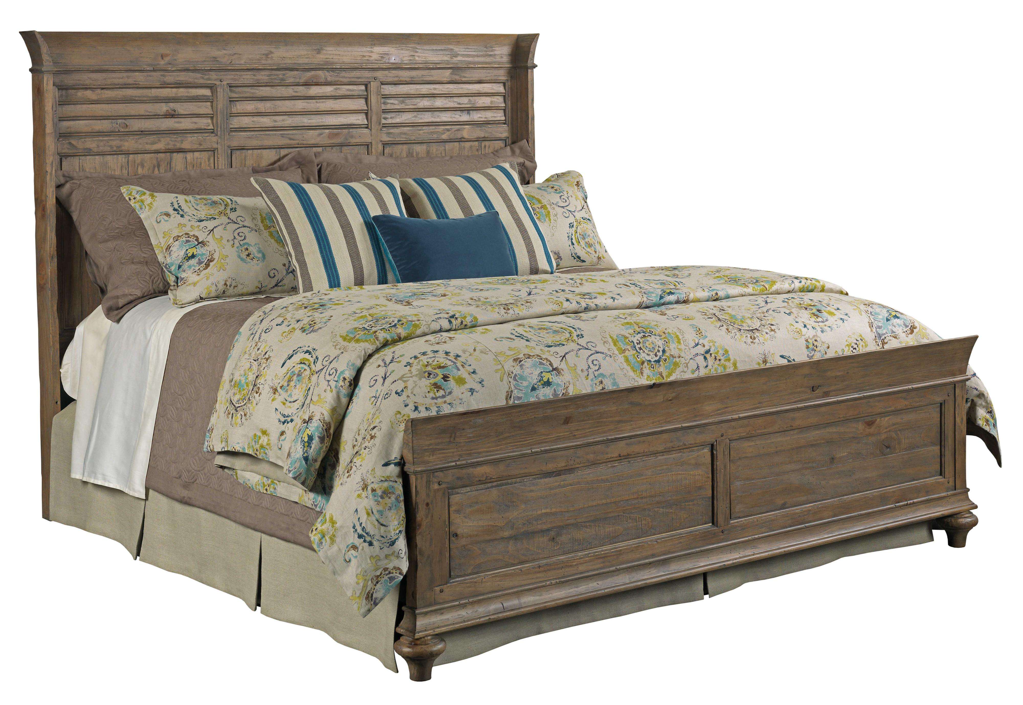 Weatherford Shelter King Bed Package With Shutter Style Headboard And Panel Footboard By Kincaid Furniture