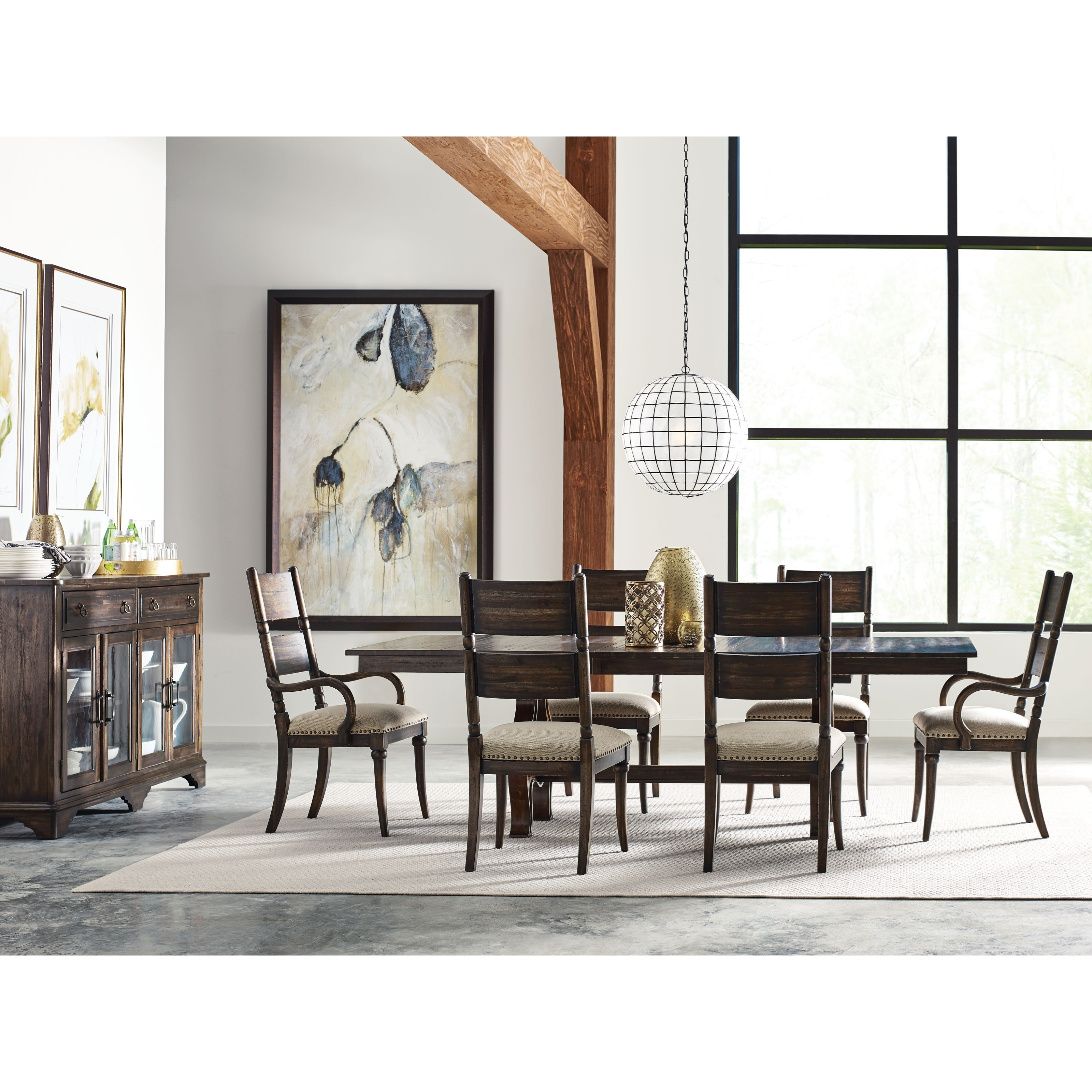 Kincaid Furniture Wildfire 8 Pc Formal Dining Room Group - Item Number: 86 Dining Room Group 2