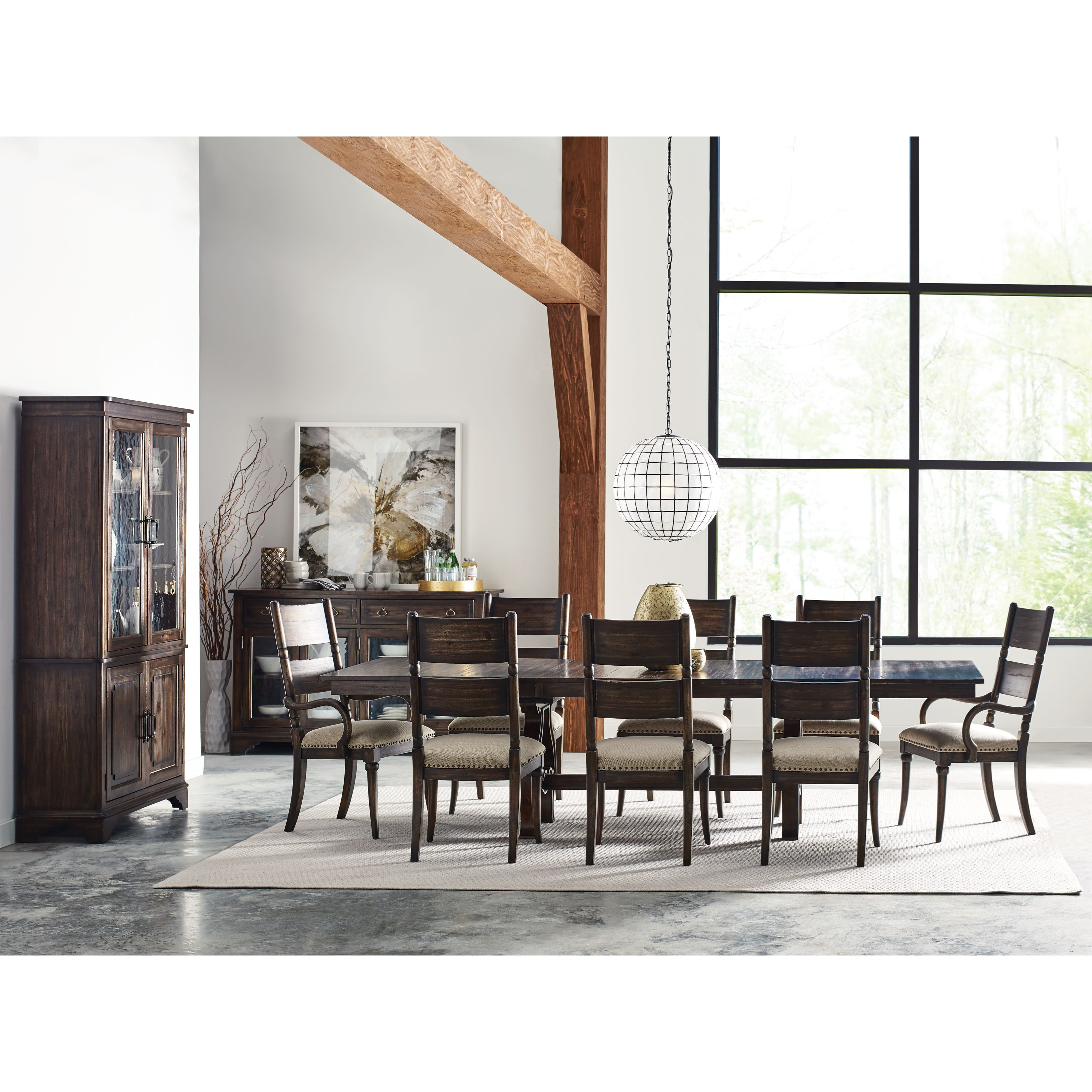 Kincaid Furniture Wildfire Eleven Piece Formal Dining Room
