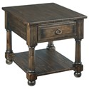 Kincaid Furniture Wildfire Vintage End Table with One Drawer and One Shelf